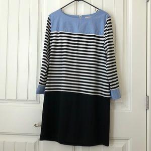 LOFT Color block dress